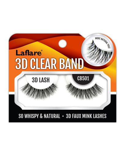 Picture of Laflare 3D Clear Band Lashes CB504