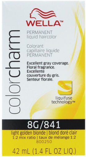 Picture of Wella Color Charm Color 8G/841 Light Golden Blonde 42ml