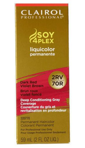 Picture of Clairol Professional Soy4PLex 2RV/70R Dark Red Violet Brown 2oz
