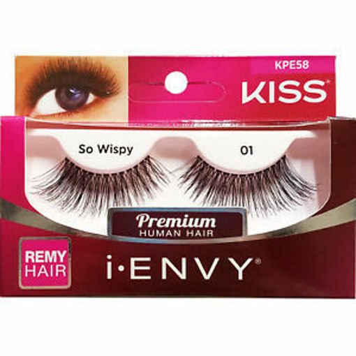 Picture of Kiss i-ENVY Strip Eyelashes So Wispy 01 (KPE58)