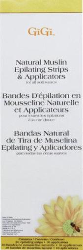 Picture of GiGi Natural Muslin Epilating Strips & Applicators