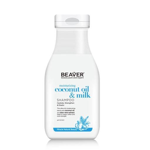 Picture of Beaver moisturizing coconut oil & milk Shampoo 11.84 oz