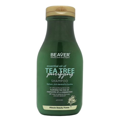 Picture of Beaver essential oil of Tea Tree purifying Shampoo 11.84 oz