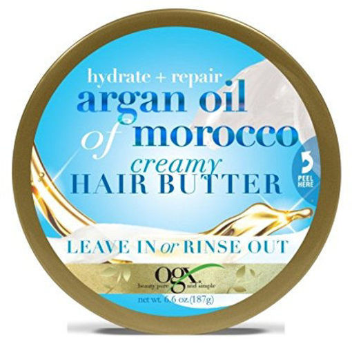 Picture of ogx hydrating & repair + argan oil of morocco creamy Hair Butter Leave In or Rinse Out 6.6 oz