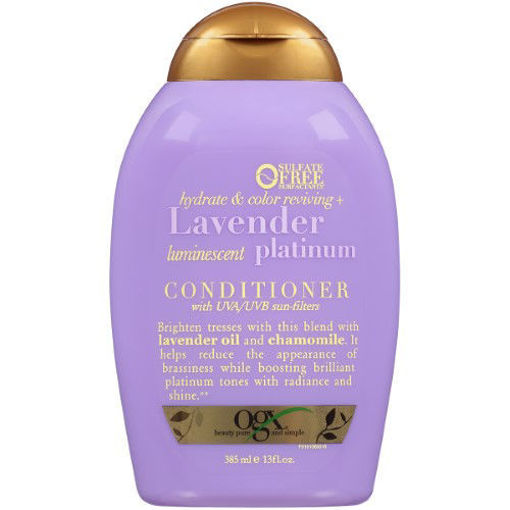 Picture of ogx hydrate & color reviving+ Lavender luminescent platinum Conditioner 13 oz