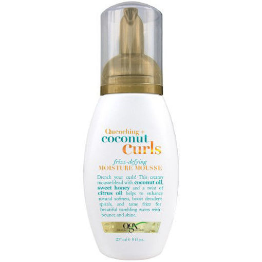 Picture of ogx Quenching+ coconut Curls frizz-defying Moisture Mousse 8 oz