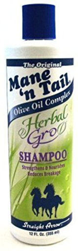 Picture of Mane 'n Tail Olive Oil Complex Herbal Gro Shampoo 12 oz
