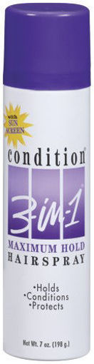 Picture of Condition Maximum Hold Hairspray 3 in 1 Unscented 7 oz