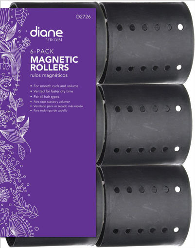 """Picture of diane 2.5"""" Magnetic Rollers D2726 (6-pack)"""