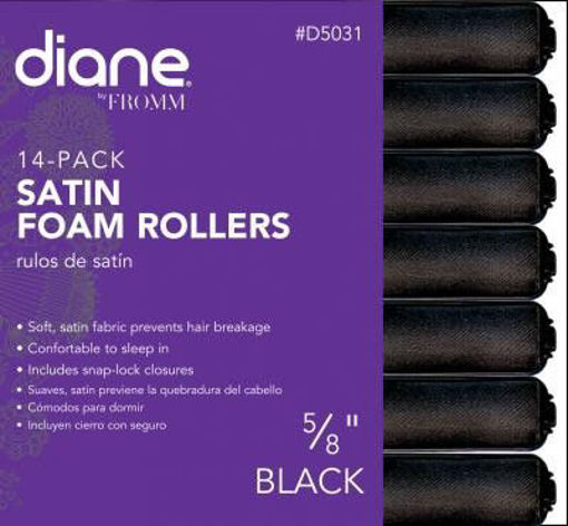"""Picture of diane 5/8"""" Satin Foam Rollers D5031 (14-pack)"""