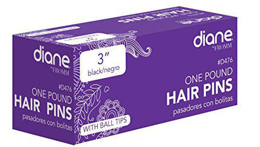 """Picture of diane One Pound Hair Pins 3"""" Black"""