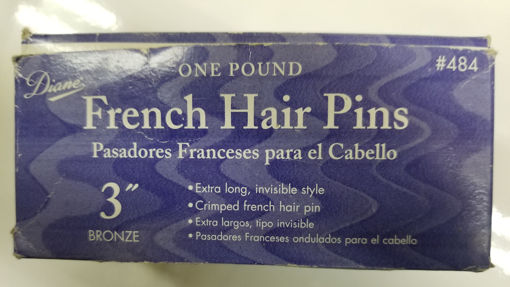 """Picture of diane One Pound French Hair Pins 3"""" Bronze"""