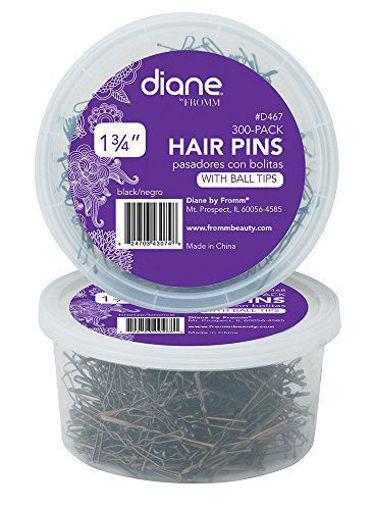 "Picture of diane 300-Pack Jumbo Bob Pins  1 3/4"" Black"