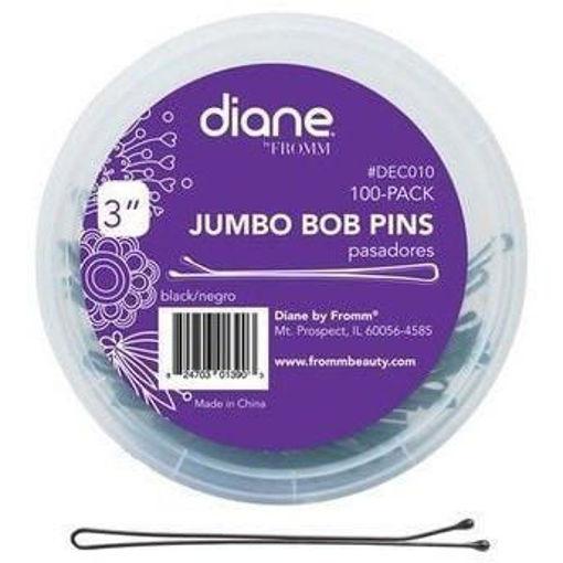 "Picture of diane 100-Pack Jumbo Bob Pins  3"" Black"