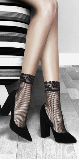 Picture of LUV Fishnet Ankle Socks #SA6200