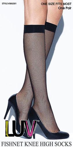 Picture of LUV Fishnet Knee High Socks #SK301