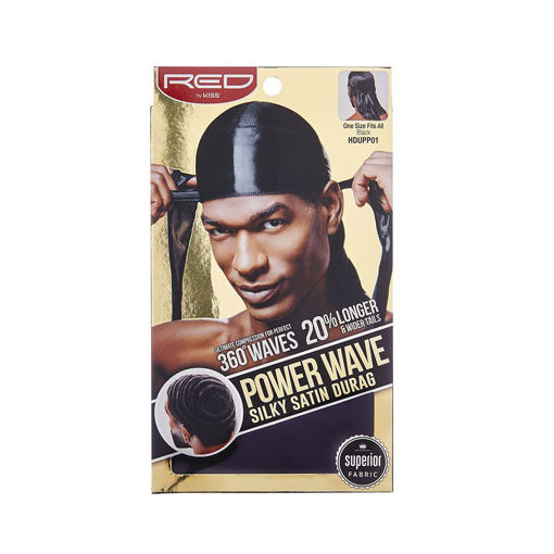 Picture of Power Wave Silky Satin Durag - Black