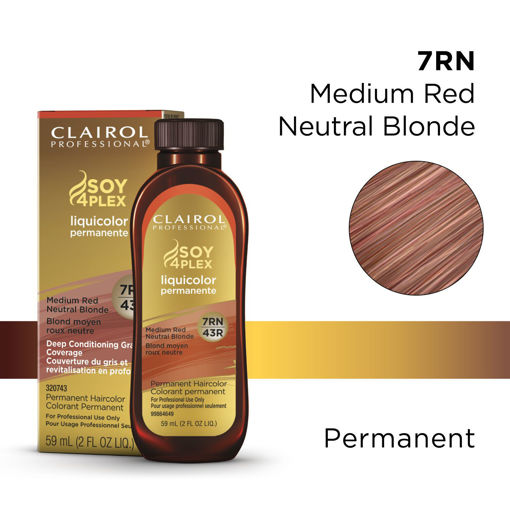 Picture of Clairol Professional Soy4PLex 7RN/43R Medium Red Neutral Brown 2oz