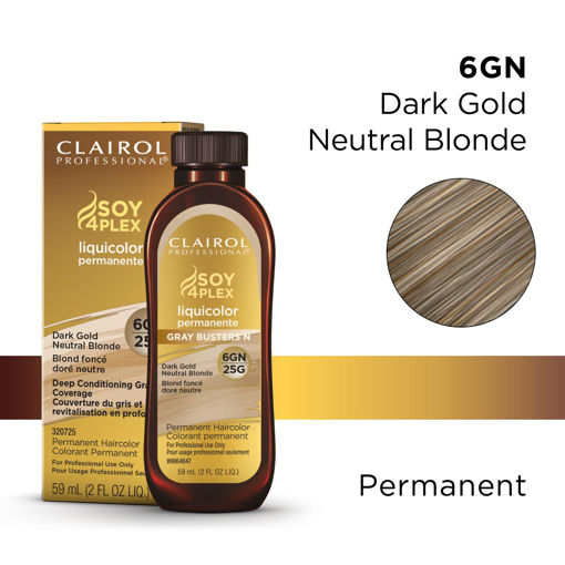 Picture of Clairol Professional Soy4PLex 6GN/25G Dark Gold Neutral Brown 2oz