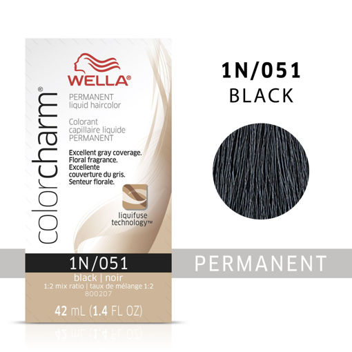 Picture of Wella Color Charm (liquid) 1N/051 Black 42ml