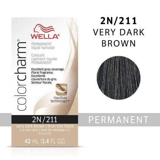 Picture of Wella Color Charm (liquid) 2N/211 Very Dark Brown 42ml