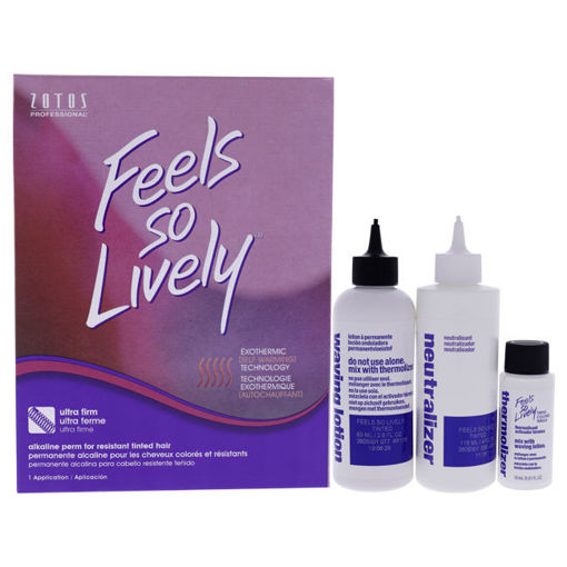 Picture of zotos feels so lively ultra firm alkaline perm (resistant tinted hair) - 1 app