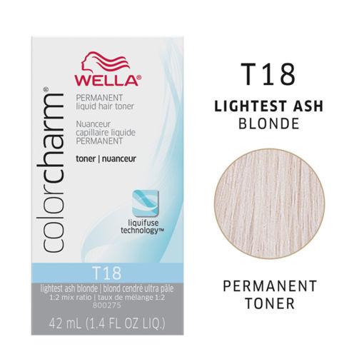 Picture of Wella Color Charm (liquid) T18 Lightest Ash Blonde 42ml