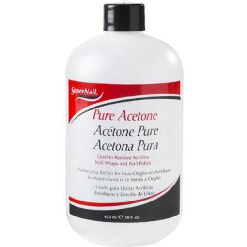 Picture of super nail pure acetone polish remover 16oz